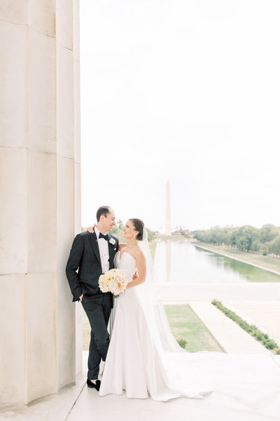 Wedding Portraits at the Lincoln Memorial in Washington, DC