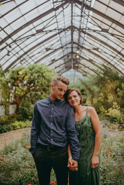 Portrait photography of Longwood Gardens Engagement session