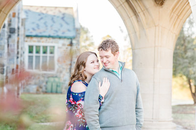A couple at their engagement session at Berry College by Jennifer Marie Studios, Atlanta's best wedding photographer.