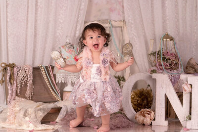 Little girl photoshoot Orlando Florida Stein Art Studio