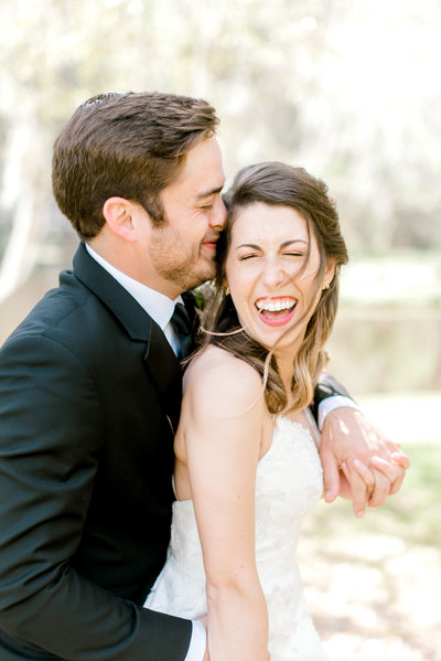 Couple laughing at Charleston SC Wedding Venue Middleton Place
