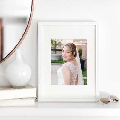Bridal portrait framed