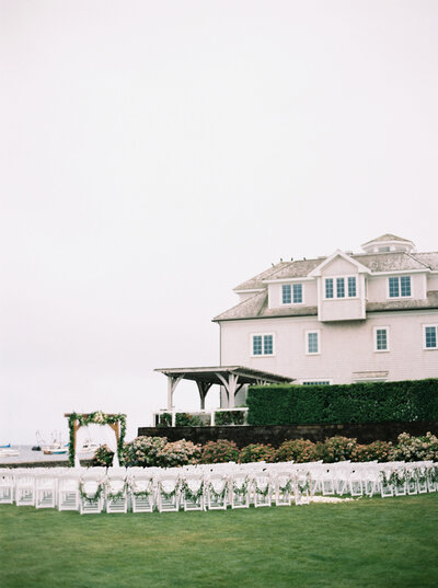 A luxury tented weekend wedding on Cape Cod at a wedding venue with accommodations