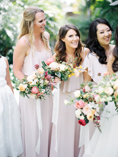 outdoor wedding at the san diego botanical garden