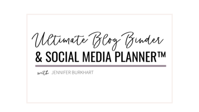 ultimate blog binder