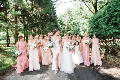 kleinfeld brides walking wedding party image