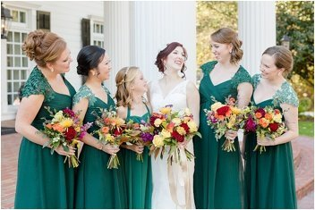 bridesmaids in front of Ryan Nicholas Inn
