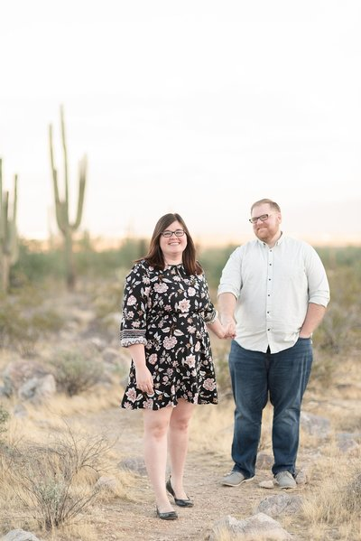 The Smith Family's Sunset Portraits in Phoenix Arizona at the White Tank Mountains
