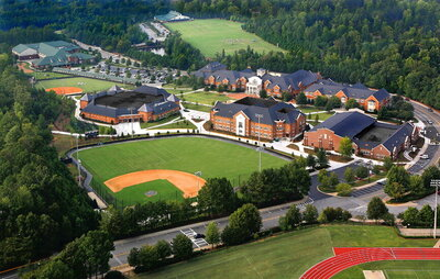 Wesleyan School aerial view of the entire campus