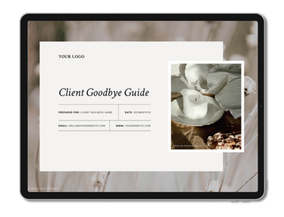 One6Creative_Goodbye Guide Landscape iPad Mockup