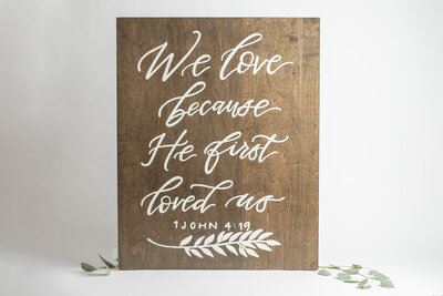 Wooden Bible Verse Wedding Sign