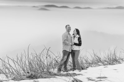 Asheville Engagement Photo Max Patch