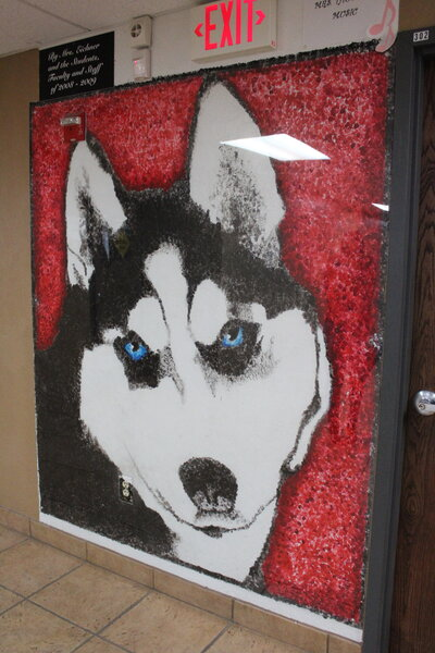 Wolf mascot of Hearn Academy