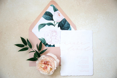 Flower inspired wedding inviations
