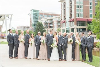 wedding party at Wyche Pavilion