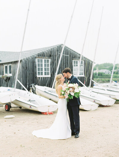 sailing club wedding portraits
