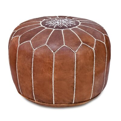 Spada+Moroccan+Leather+Pouf