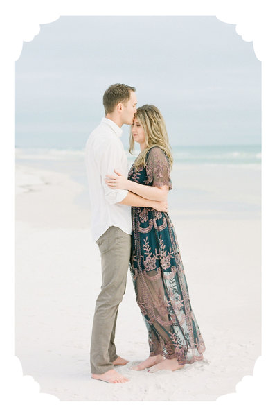 Soft film photos of an Engagement Session on the beaches in Fort Walton Beach Florida,  Grayton Beach Florida