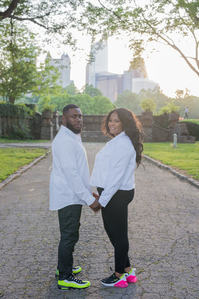 Check out this New Jersey couple who traveled to the Peachtree State of Georgia for their Atlanta engagement session with Lynda Louis Photography