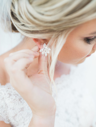 M. Harris Studios - Bride and Diamond Earrings