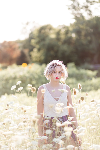 Senior Session in the Sunflower Field0013