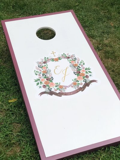 custom-wedding-crest-cornhole-board-The-Welcoming-District