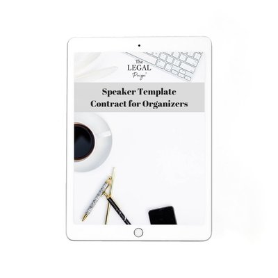Speaker Template Contract for Organizers