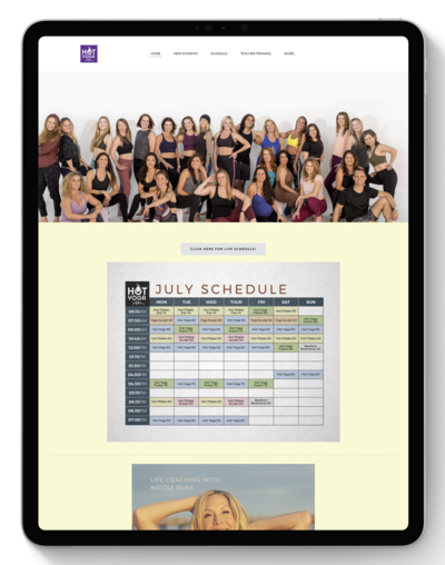 Hotsource Yoga Studio Website Before Transformation