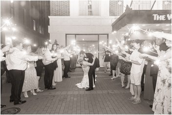 sparkler exit at The Westin Poinsett