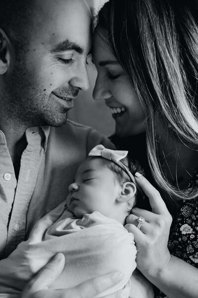 Boston Newborn Photographer happy family
