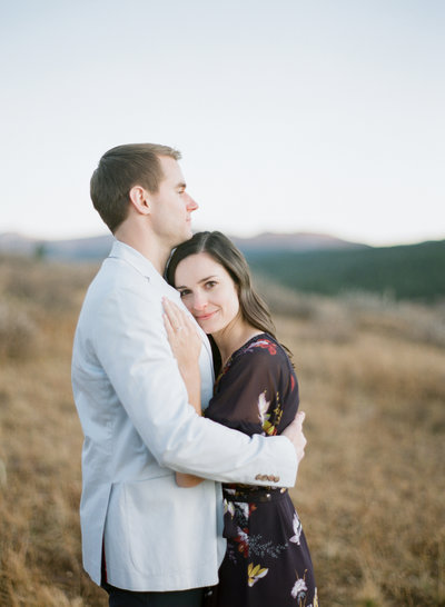 Engagement photos in Vail Colorado in fall