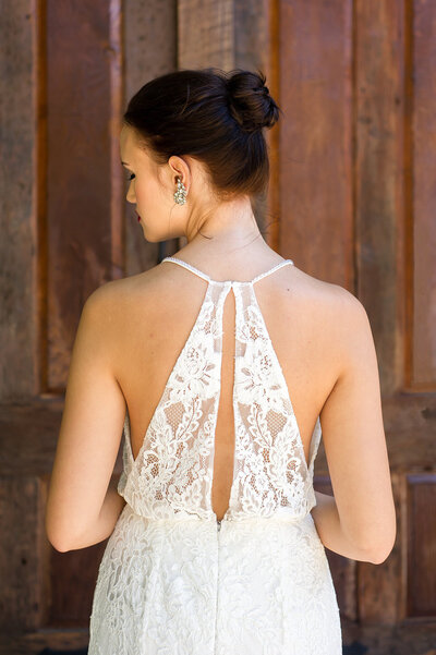 Photo link to more details about the Sabine all lace wedding dress