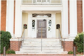 front doors of the poinsett club in Greenville
