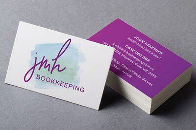 JMH Bookkeeping Business Card by The Brand Advisory