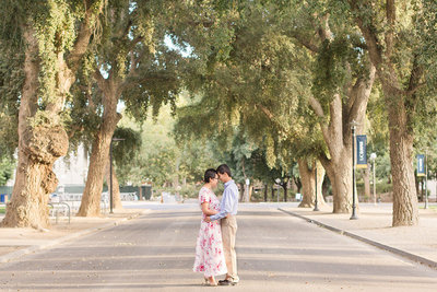 UC Davis Spring Engagement Session by Adrienne and Dani Photography