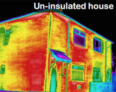 un-insulated house