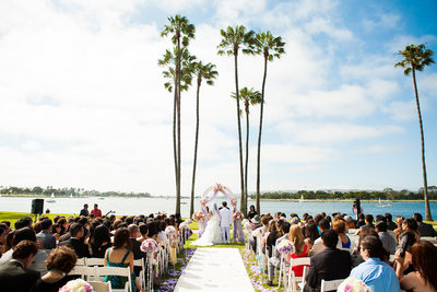 Ceremony at The Dana on the Mission Bay in San Diego.