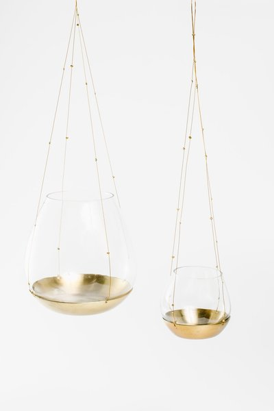 Gold Hanging Candleholders