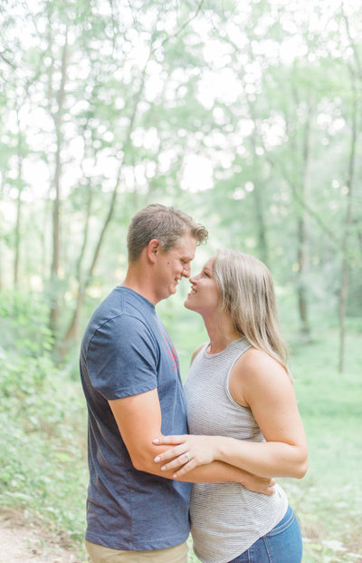 Engagement session at Kilgore Falls