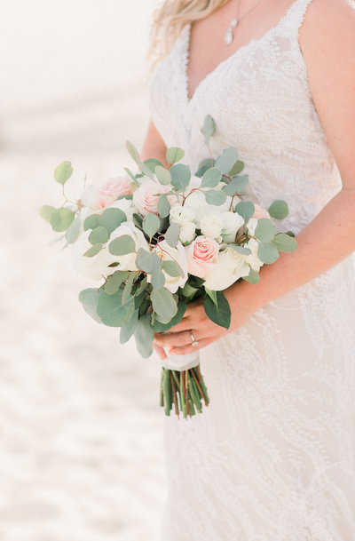 Bridal bouquet in Los Cabos Mexico