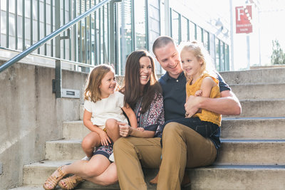 Austin Family Photographer, Tiffany Chapman Photography family on stairs photo