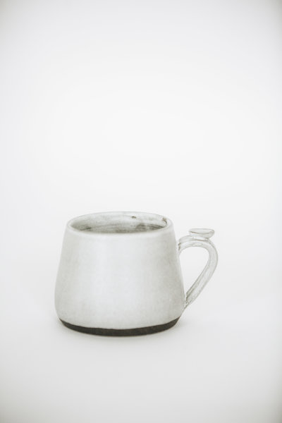 White Hearth pottery stoneware tumbler.