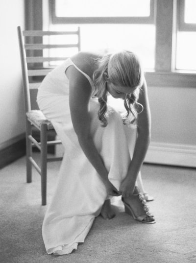 Bride Getting Ready for Red Lodge Montana Wedding