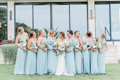 Dallas bride and bridesmaids