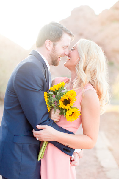 Pink Sunflower Desert Engagement Session Scottsdale, Arizona | Amy & Jordan Photography