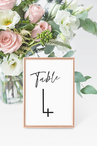 Sophronia Table Number