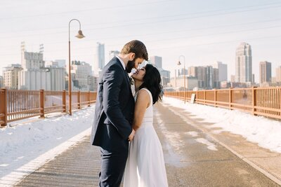 Minnesota Wedding Couple Romantic Photos