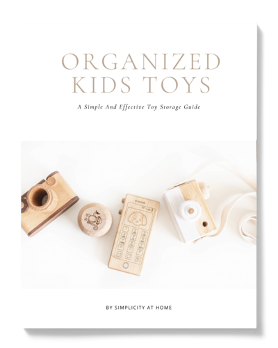 A simple and effective kids toy storage guide for an organized home by Simplicity at Home