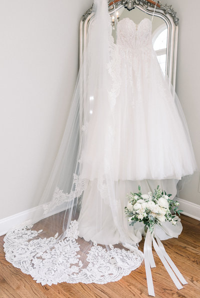 Wedding dress at The Ryland Inn in New Jersey