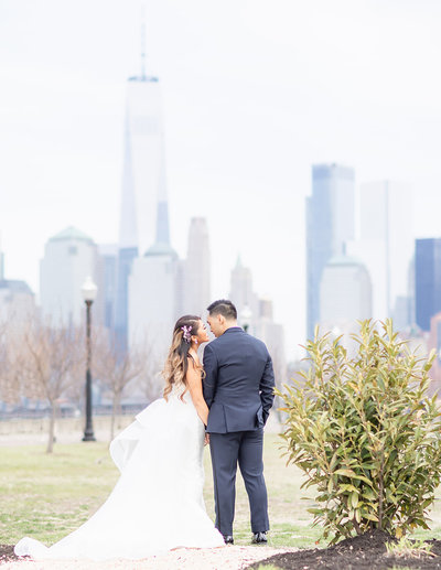 First look wedding photo at Liberty House Wedding captured by Diana & Korey Photo and Film